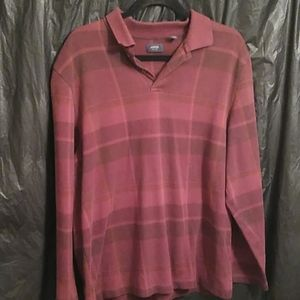 Arrow pullover red plaid button up size L